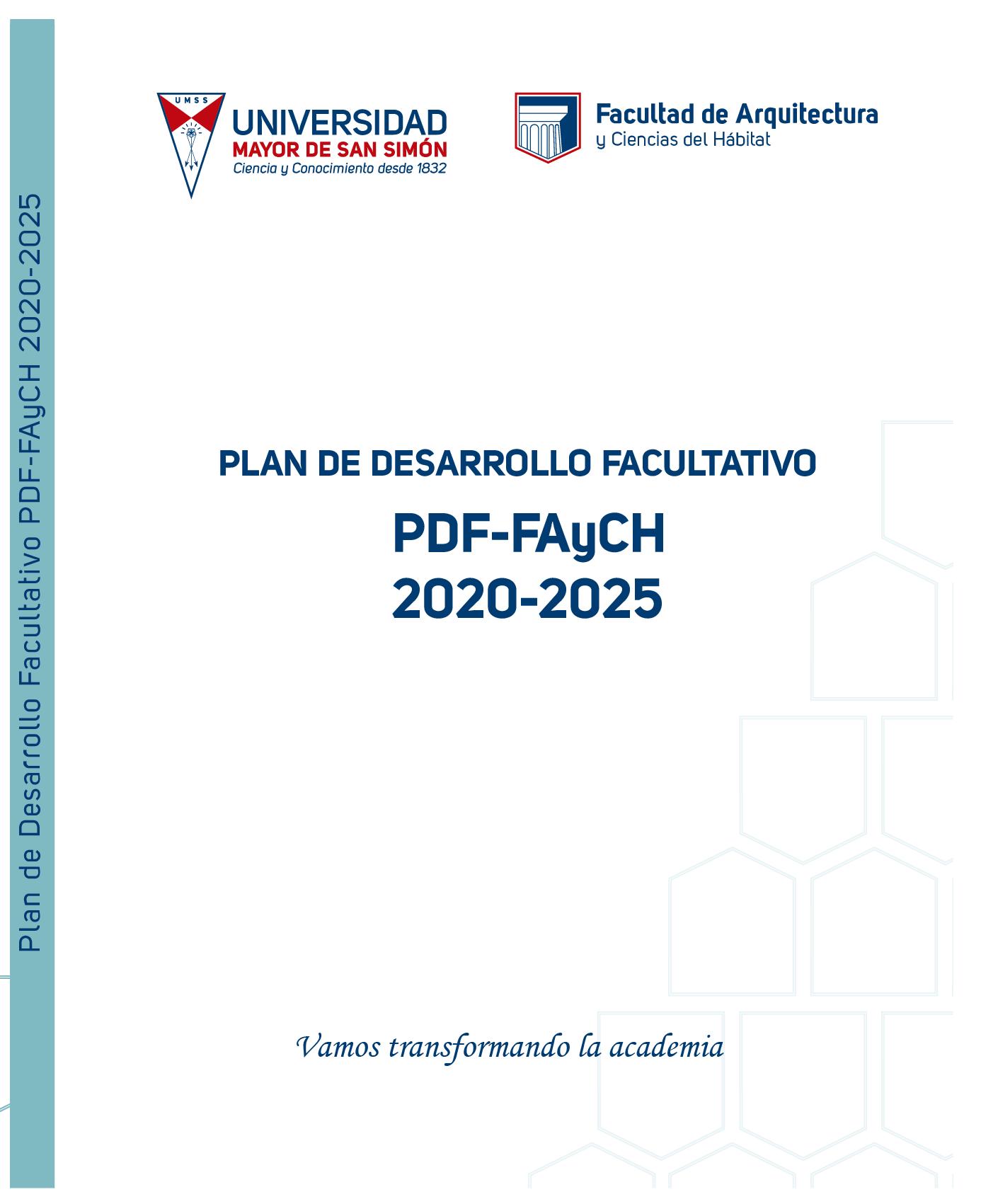 Plan de Desarrollo Facultativo 2020 – 2025