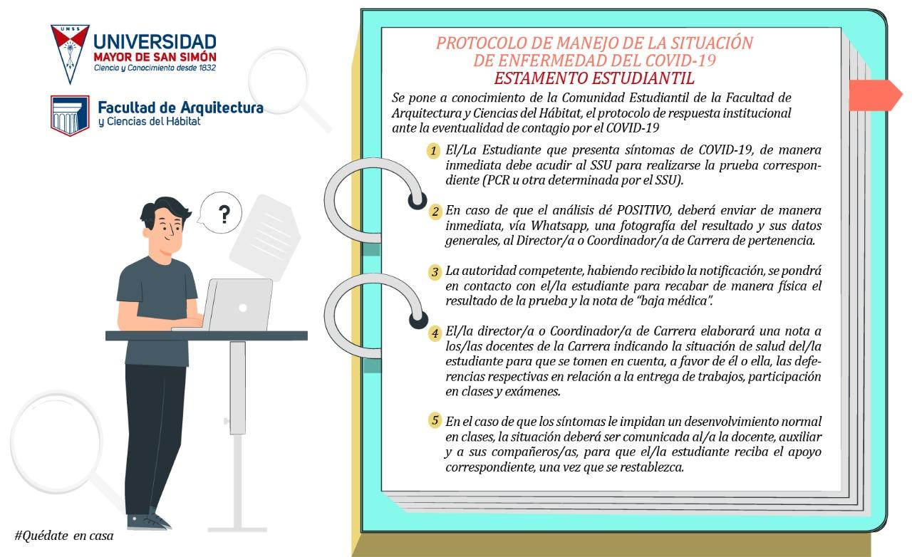 PROTOCOLO DE MANEJO DE LA SITUACIÓN DE ENFERMEDAD DEL COVID-19 «ESTAMENTO ESTUDIANTE»