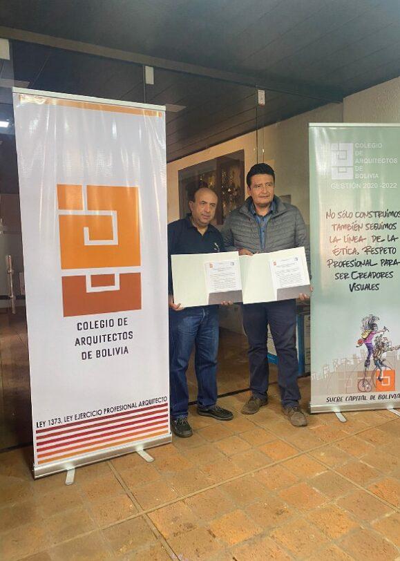 Convenio de colaboración mutua con el Colegio de Arquitectos de Bolivia (CAB)